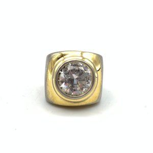 Jewelry - Large Round Bling Gold Tone Ring Inset Stone
